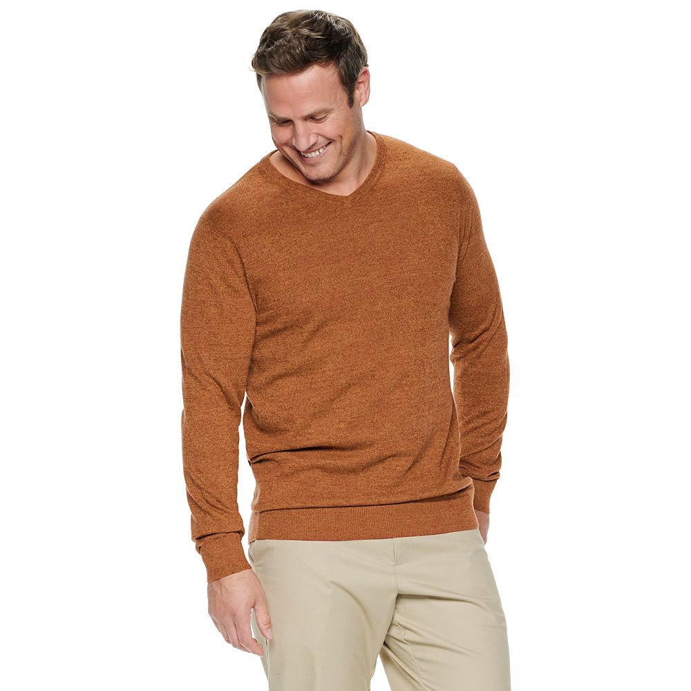 Big & Tall Croft & Barrow® Easy Care V-neck Sweater