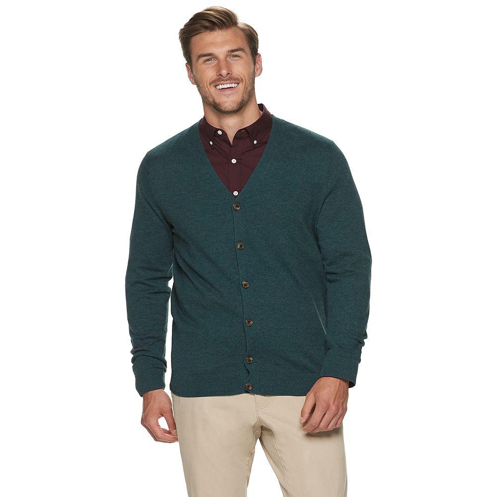 Big & Tall Croft & Barrow® Sweater Cardigan