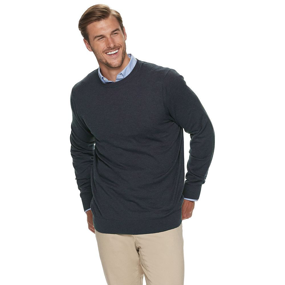 Big & Tall Croft & Barrow® Easy Care Crewneck Sweater