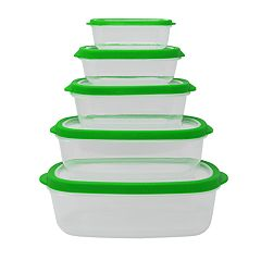 Farberware 10-pc. Rectangle Vented Food Storage Set