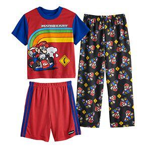 Boys 4-10 Super Mario Bros. 3-Piece Pajama Set