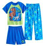 Boys 4-10 Jurassic Park Dino 3-Piece Pajama Set