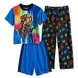 Boys 6-12 Avengers Gauntlet 3-piece Pajama Set