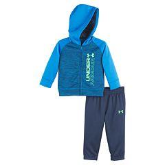 Boy Under Armour Raglan Zip Hoodie & Pants Set