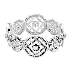 Dana Buchman Medallion Stretch Bracelet