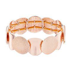 Dana Buchman Rose-Gold Tone Circle Stretch Bracelet