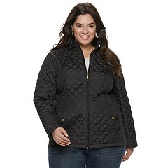 fc5002aec91 Plus Size Weathercast Multi Quilted Modern Moto Jacket