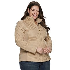 Plus Size Weathercast Multi Quilted Moto Jacket