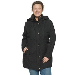 ad9648787fd95 Plus Size Weathercast Hooded Quilted Walker Jacket