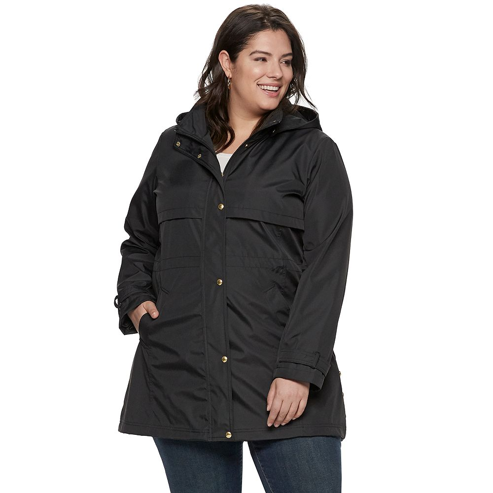 Plus Size Weathercast Hooded Bonded Anorak Jacket