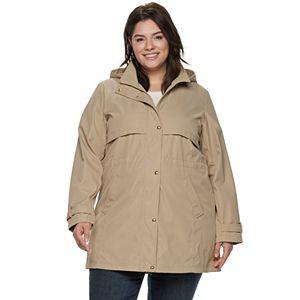 Plus Size Weathercast Hooded Bonded Anorak Jacket