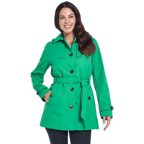 Women's Weathercast Belted Trench Coat