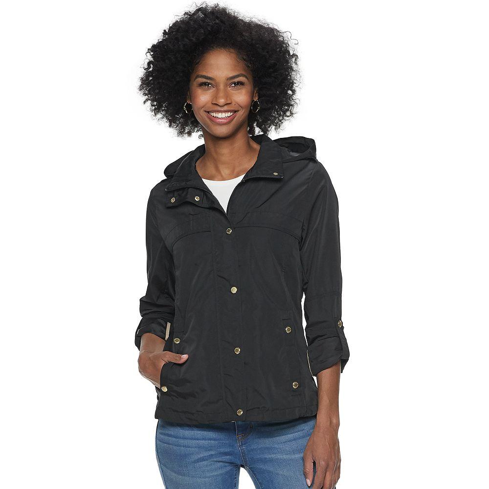 Women's Weathercast Hooded Roll-Tab Anorak Jacket