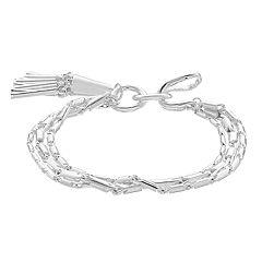 Dana Buchman Silver-Tone Hook Flex Bracelet