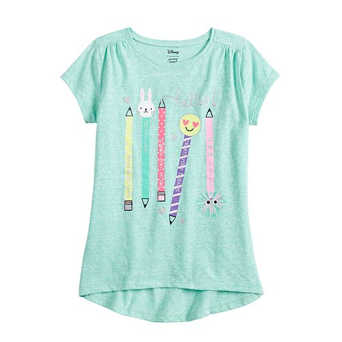 Girls 4-12 Jumping Beans® High-Low Hem Pencil Graphic Tee