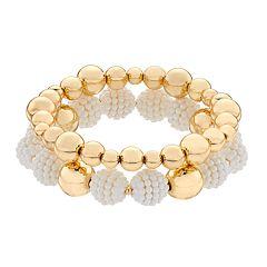 Dana Buchman Gold-Tone Double Row Stretch Bracelet