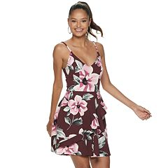 8e4f14f1fd36 Juniors' Speechless V-Neck Floral Print Skater Dress