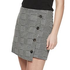 NEW! Juniors' Love, Fire Button Front Wrap Skirt