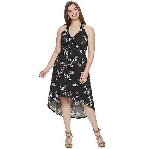 Juniors\' Plus Size Candie\'s® High-Low Maxi Dress