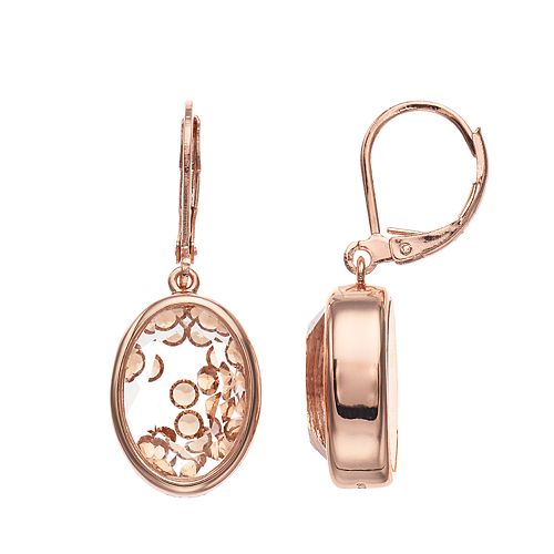 Brilliance Oval Shaker Drop Earrings with Swarovski Crystals