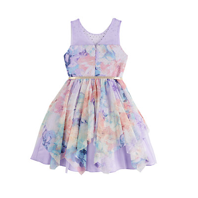 Girls 7-16 Knitworks Mesh Watercolor Fit & Flare Dress