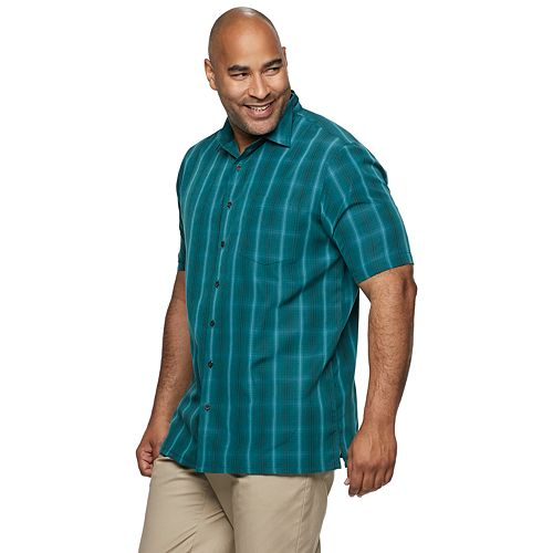 Men's Croft & Barrow® Short Sleeve Microfiber Button-up
