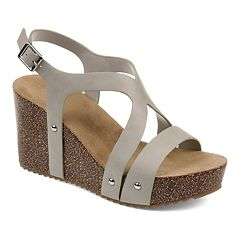 af433a762a81 Womens Journee Collection Wedges Sandals - Shoes