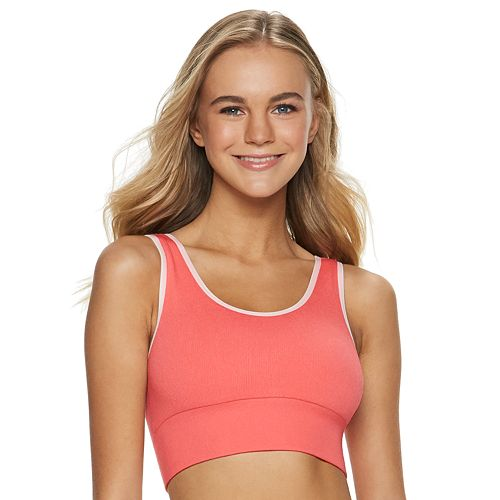 Juniors' SO® Seamless Sports Bra