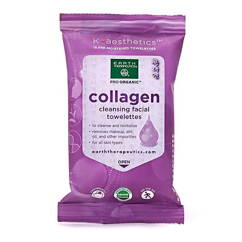 Earth Therapeutics 15-pk. Collagen Cleansing Facial Towelettes