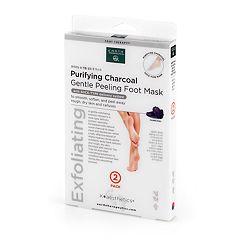 Earth Therapeutics 2-pk. Purifying Charcoal Gentle Peeling Foot Mask