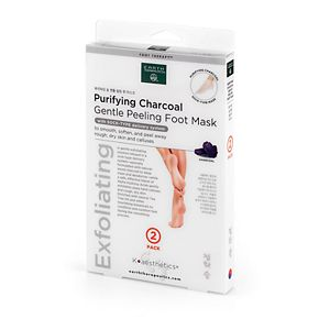 Earth Therapeutics 2-pk. Purifying Charcoal Gentle Peeling Foot Mask