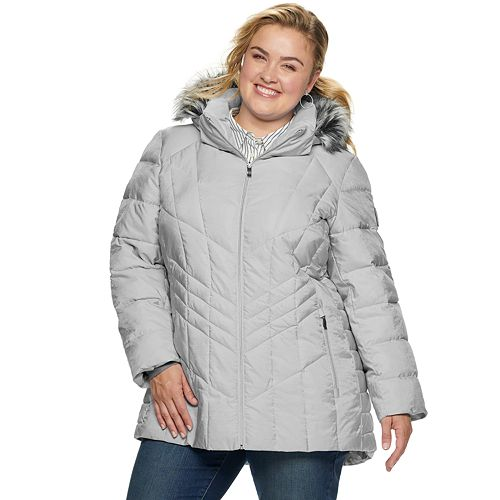 Plus Size Zeroxposur Shimmer Heavyweight Quilted Puffer Jacket