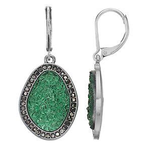 Simply Vera Vera Wang Green Simulated Crystal Halo Earrings