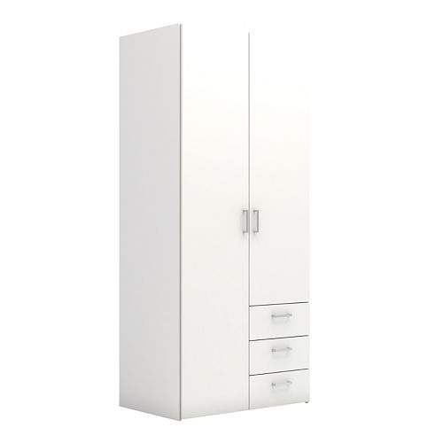 Tvilum Wardrobe with 2 Doors and 3 Drawers