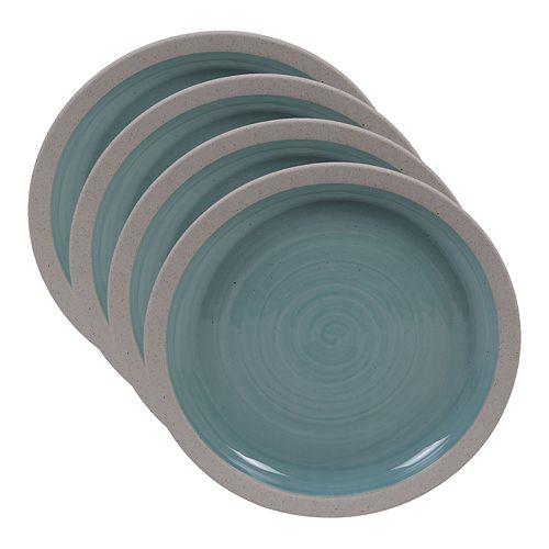Certified International Artisan Teal 4-pc. Salad Plate Set