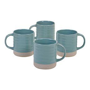 Certified International Artisan Teal 4-pc. Mug Set