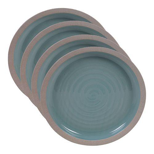 Certified International Artisan Teal 4-pc. Dinner Plate Set