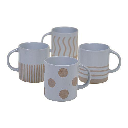 Certified International Artisan Graphic 4-pc. Mug Set