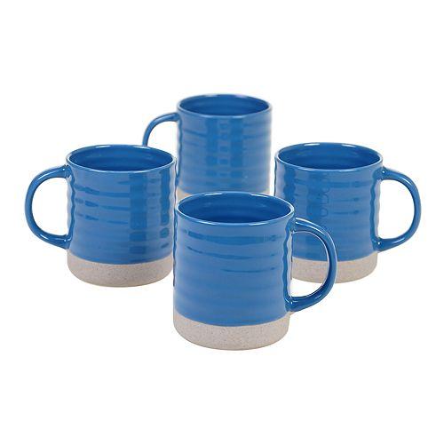 Certified International Artisan Blue 4-pc. Mug Set