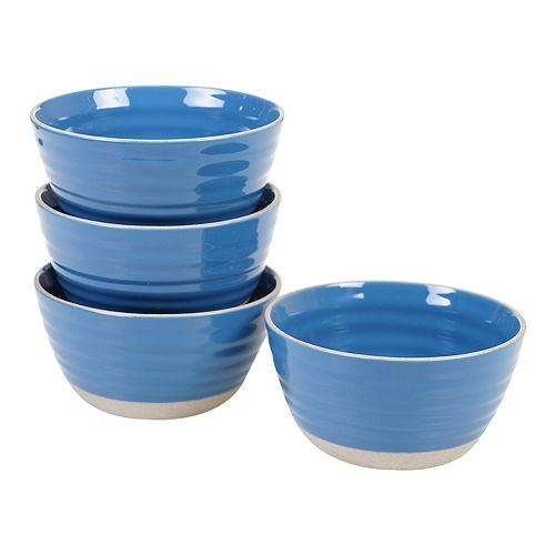 Certified International Artisan Blue 4-pc. Ice Cream Bowl Set