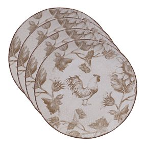 Certified International Toile Rooster 4-pc. Salad Plate Set