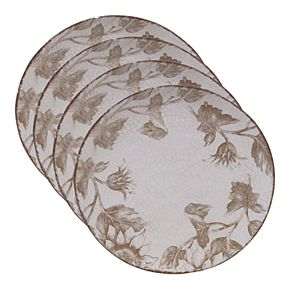 Certified International Toile Rooster 4-pc. Dinner Plate Set