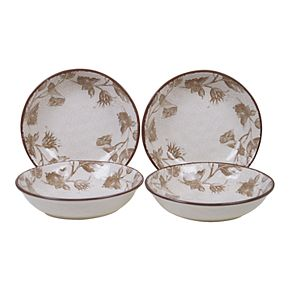 Certified International Toile Rooster 4-pc. Soup/Pasta Bowl Set