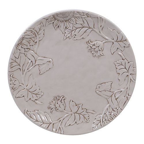 Certified International Toile Rooster Round Platter