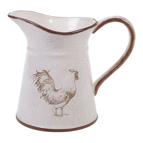 Certified International Toile Rooster Pitcher
