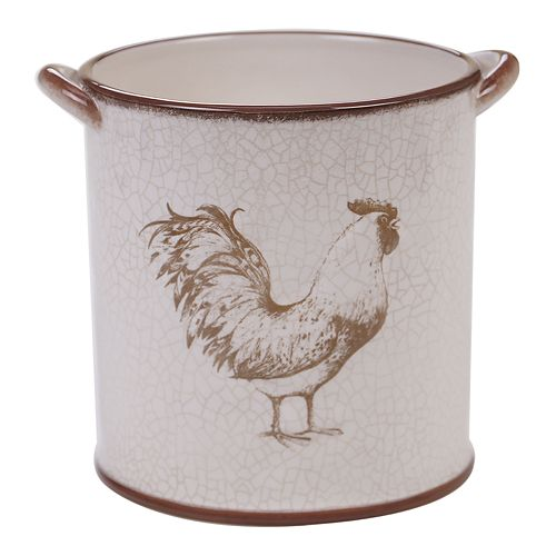 Certified International Toile Rooster Tool Crock