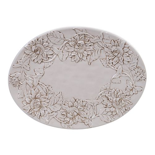 Certified International Toile Rooster Oval Platter