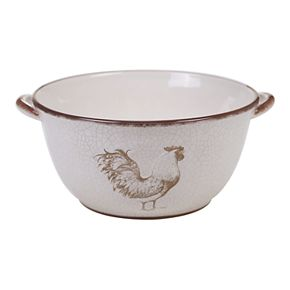 Certified International Toile Rooster Deep Bowl with Handles