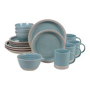 Certified International Artisan Teal 16-pc. Dinnerware Set
