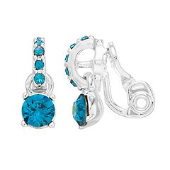 Dana Buchman Blue Crystal Clip On Earrings